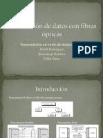 Transmisión de datos con fibras ópticas