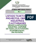Guia Lista Taxativa Acuerdo Ministerial 134-2,005