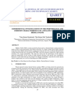 Experimental Investigations on the Performance and Emissoin Characteristics