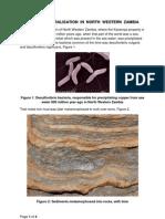 Copper Mineralisation in North Western Zambia