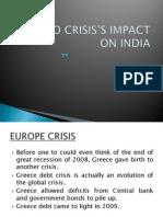 EURO CRISIS'S IMPACT ON INDIA