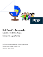 unit 1 geography planner