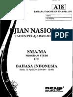 Naskah Soal UN Bahasa Indonesia SMA 2012 Paket A18