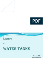 Lecture on Design of Water Tanks 1