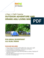 3 Day / 2 Nights Camping Experience for School Students in Malaysia