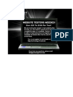 Website Tester New Flyer