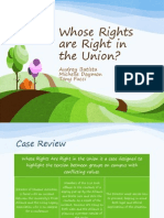 whose rights are right in the union presentation