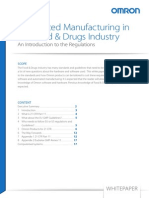 An Introduction to Regulations for Automated Manufacturing in the Pharmaceutical and Food & Beverage Industries.