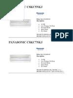 99700285 Katalog AC Panasonic 2012