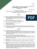 9A14403 Fluid Mechanics and Heat Transfer