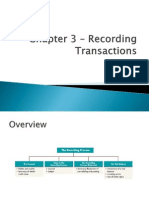 Chapter 3 – Recording Transactions