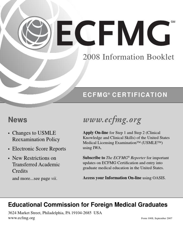 Usmle Booklet United States Medical Licensing Examination