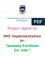 Project Report on MIS Implementation in an Comapany (Jamuna Fertilizer Co. Ltd.) - Md. Diaun Ul Islam.