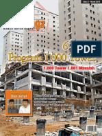 HUD Magazines. Edisi 3. Maret 2013. 6 Tahun Program 1.000 Tower. 1.000 Tower 1.001 Masalah