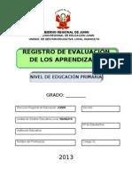 Caratula de Registro de Evaluacion