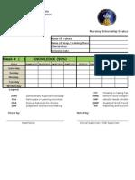 Nursing Internship Evaluation Form -Hail University