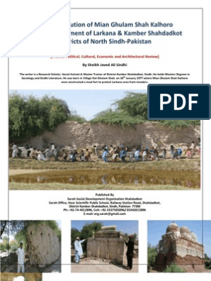 The Contribution of Mian Ghulam Shah Kalhoro in the