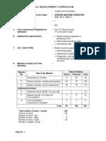 Stenter Machine Operator Curriculum