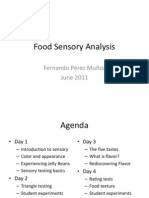 Handbook [Sensory Analysis Workshop]