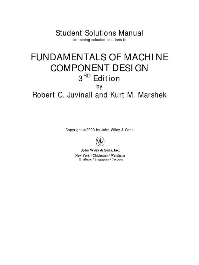 fundamentals of machine component design student solutions manual rh scribd com Farm Equipment Manuals Farm Equipment Manuals