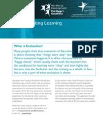Evaluating Learning (English)