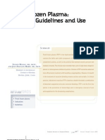 Fresh Frozen Plasma Clinical Guidelines and Use