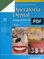 Operatoria Dental Integracion Clinica 4ta Ed - Barrancos Mooney