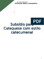 Projeto Subsisdio Catequese Catecumenal