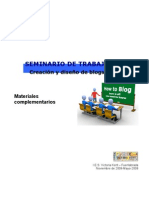 Seminario Blogs, Materiales Complementarios