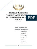 Final-project Report on Various Labour Welfare Activities Done by Jaypee Group and Its Effectiveness [Hr] (1)