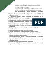 Organizarea contabilităţii