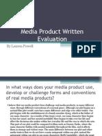 Media Product Written Evaluation