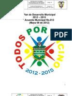 Plan Desarrollo Ajustado y Defnitivo 2012 - 2015