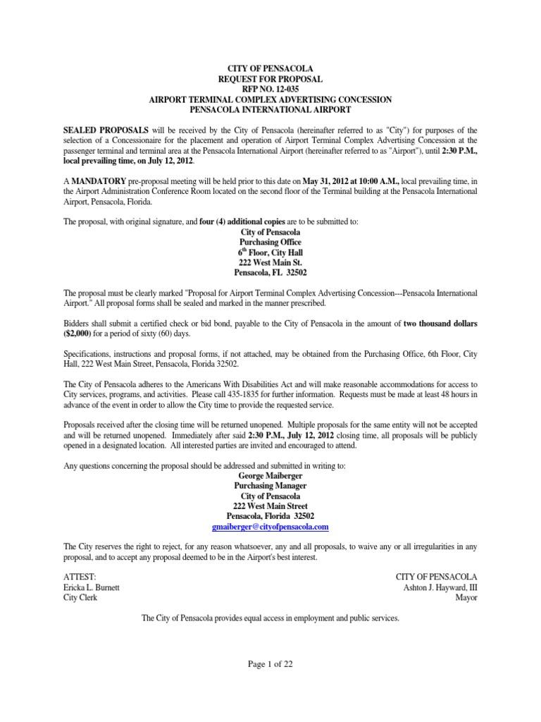 RFP pdf | Surety Bond | Insurance