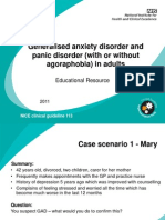 Clinical Case Scenarios for Generalised Anxiety Disorder for Use in Primary Care