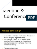 Module 3 - Topic 5 Meeting and Conferences