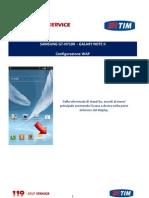 Samsung Galaxy Note II Configurazione Wap
