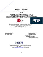 comparative study of LG electronics with its competotors