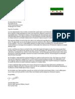 Idris Letter to Obama