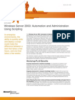 Windows Server 2003 Automation and Administration Using Scripting Syllabus