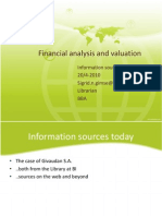 Financial Analysis and Valuation1