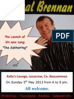 "Launch Poster for Pascal Brennan's Song ""The Gathering""."