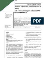 NBR 7362-1 Tubo PVC Esgoto