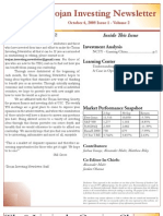 Trojan Investing Newsletter - Volume 2 Issue 1