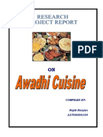 Research Project on Awadhi Cuisine by Rajiv Ranjan