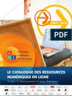 Catalogue Ressources Numériques Pédagogiques Kne 2009