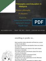 Western Philosophy of Education