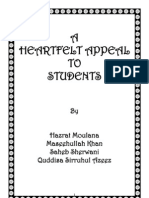 A Heartfelt Appeal to Students - Moulana Maseehullah Khan
