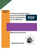 COMISIONES ESPECIALES PARA LA ACTUALIZACIÓN DE PROGRAMAS CCH