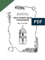 William Paca Plant Sale Catalogue 2013